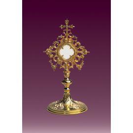 Relikwiarz złocony h: 25 cm.