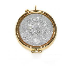 Cyborium z mosiądzu złoconego - Chrystus Cierpiący