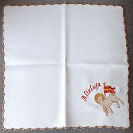 Serweta haftowana - Alleluja 37x37 cm