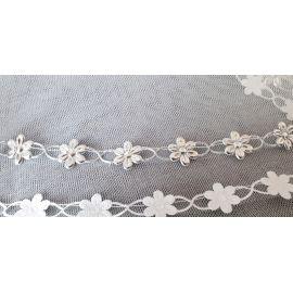 Welona na monstrancje 120 cm - srebrne kwiatki