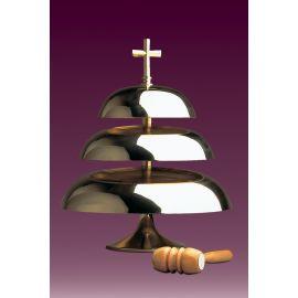 Gong kościelny trójtonowy, błyszczący