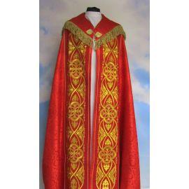 Kapa haftowana IHS rozeta - kolory liturgiczne (50A)