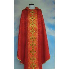 Ornat kolory liturgiczne -  pięknym pasem haftowanym + kamienie (2)