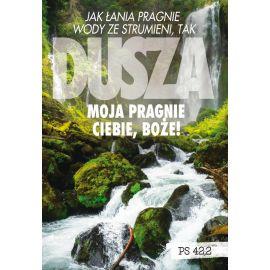 Plakat Krajobraz Sentencja - Jak łania pragnie...