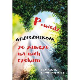 Plakat Krajobraz Sentencja - Powiedz grzesznikom...