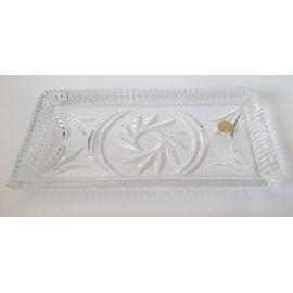 Taca szklana /kryształ - 18,5x9,5 cm.