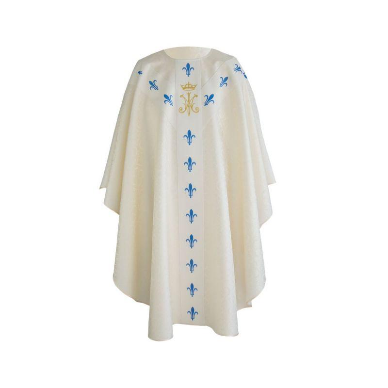 Ornat haftowany Maryjny ecru (23)