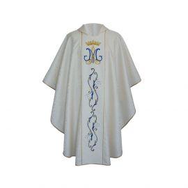Ornat haftowany Maryjny ecru (30)
