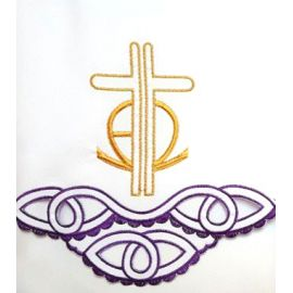 Obrus ołtarzowy haftowany - Krzyż (60)