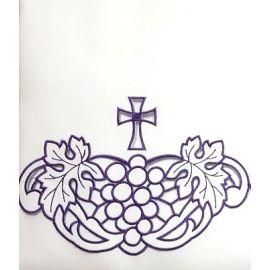 Obrus ołtarzowy haftowany - fioletowy krzyż (57)