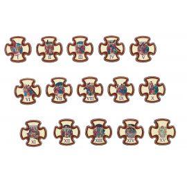 Stacje drogi krzyżowej 14,5 x 14,5 cm (2)