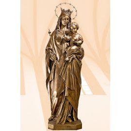 Figura Matka Boża Królowa Świata (włoskie złoto jasne) 140 cm