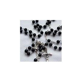 Różaniec komunijny - czarna perła