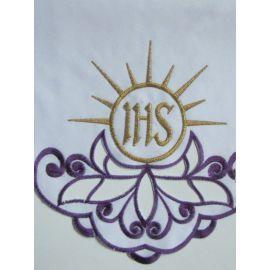 Obrus ołtarzowy haftowany - IHS (59)