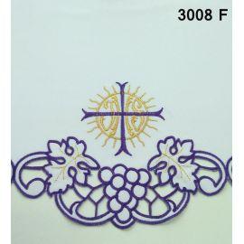Obrus ołtarzowy haftowany - Krzyż IHS (73)