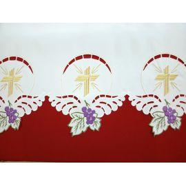 Obrus ołtarzowy haftowany - wzór eucharystyczny (105)