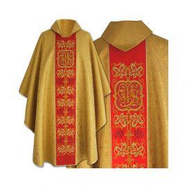Ornat gotycki haftowany IHS