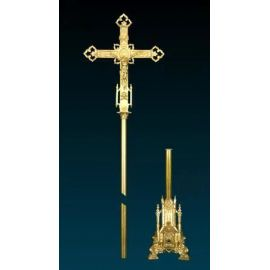 Krzyż procesyjny złocony (3)