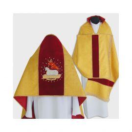 Welon liturgiczny brokat - motyw wielkanocny