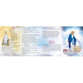 Folder składany Modlitwy do Matki Bożej od Cudownego Medalika