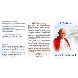 Folder składany Litania do Św. Jana Pawła II