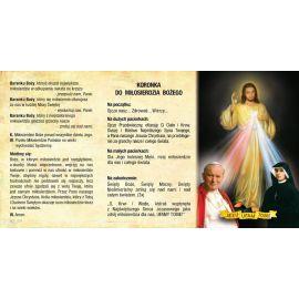 Folder składany Koronka do Miłosierdzia Bożego