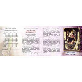 Folder składany 13x9 cm Nowenna Pompejańska