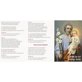 Folder składany Godzinki ku czci Świętego Józefa