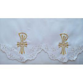 Obrus ołtarzowy haftowany - wzór eucharystyczny (177)