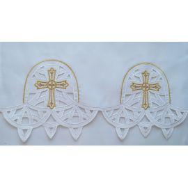 Obrus ołtarzowy haftowany - wzór eucharystyczny (181)