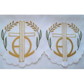 Obrus ołtarzowy haftowany - wzór eucharystyczny (182)