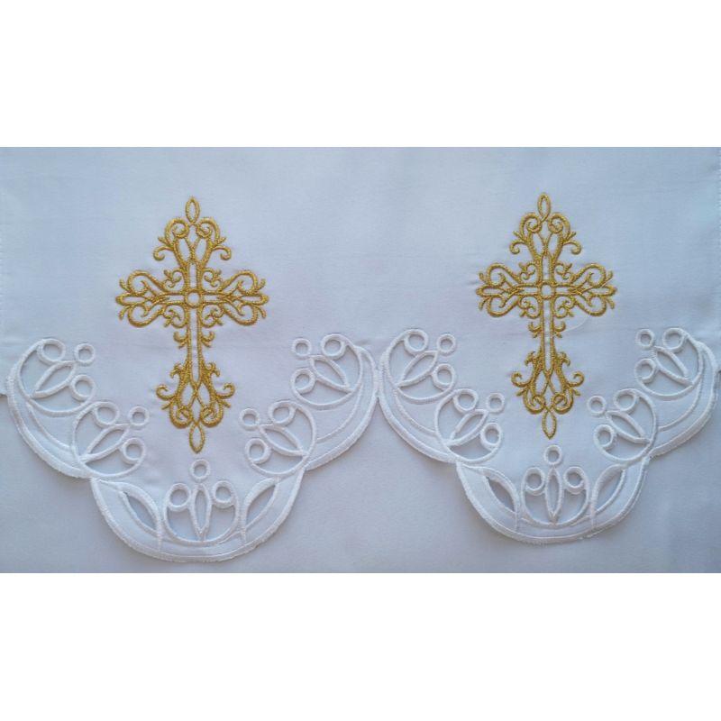 Obrus ołtarzowy haftowany - wzór eucharystyczny (190)