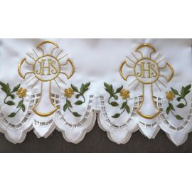 Obrus ołtarzowy haftowany - wzór eucharystyczny (135)