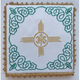 Palka haftowana IHS + złoty krzyż (4)
