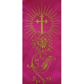 Stuła różowa IHS + ornament