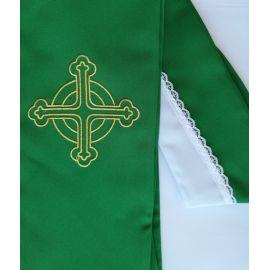 Stuła zielona Krzyż do koncelebry (10)