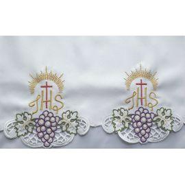 Obrus ołtarzowy haftowany - wzór eucharystyczny (148)