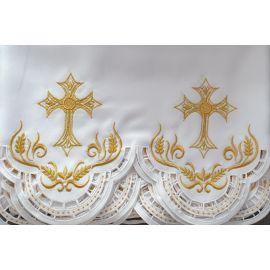 Obrus ołtarzowy haftowany - wzór eucharystyczny (104)