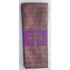 Stuła kapłańska fioletowa w złote wzory nr 28