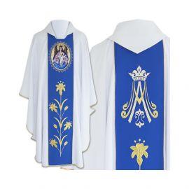 Ornat Maryjny Matka Boża z dzieciątkiem na tronie