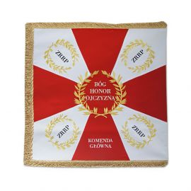 "Sztandar haftowany  ""Bóg, honor, ojczyzna"""