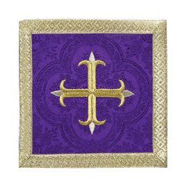 Palka fioletowa Krzyż + złote obszycie