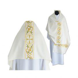 Welon liturgiczny ecru, materiał strecz - (36)