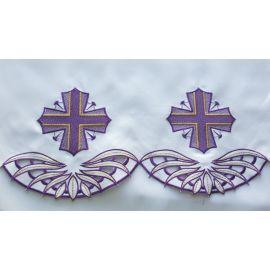 Obrus ołtarzowy haftowany - wzór eucharystyczny (76)