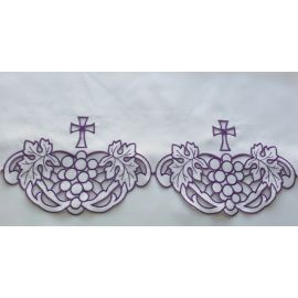 Obrus ołtarzowy haftowany - wzór eucharystyczny (192)