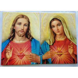 Dwa obrazy Serce Jezusa oraz Serce Maryi - komplet