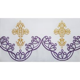 Obrus ołtarzowy koronkowy wzór Maryjny