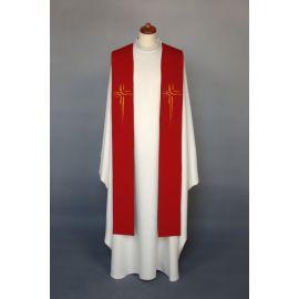 Stuła haftowana do koncelebry - kolory liturgiczne (2)