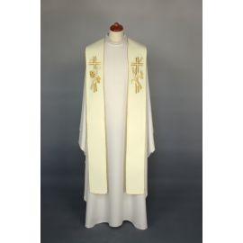 Stuła haftowana do koncelebry - kolory liturgiczne (7)