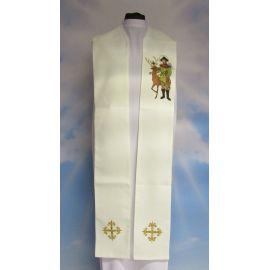 Stuła haftowana Święty Hubert (1)